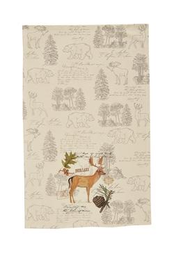 Wildlife Trail Printed Dishtowel - Deer