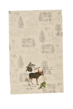 Wildlife Trail Printed Dishtowel - Moose