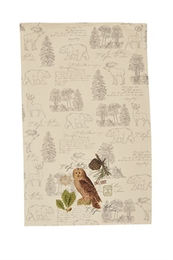 Wildlife Trail Printed Dishtowel - Owl