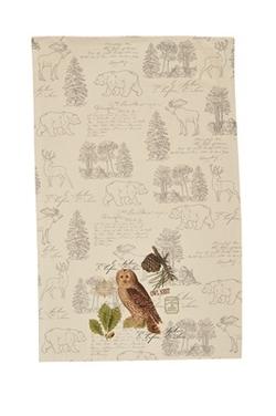 Wildlife Trail Printed Dishtowel - Owl