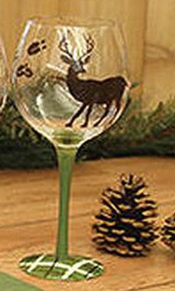 Wine Glasses - Deer