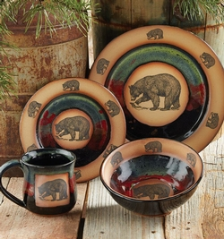 Forest Bear Pottery - Four Piece Place Setting