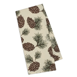 Pinecone Printed Dishtowel