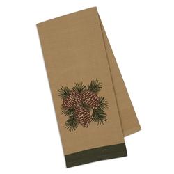 Pinecone Embellished Dishtowel