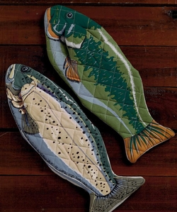 Fish Oven Mitt - Set of 2