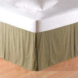 Mini Green Plaid Bedskirt - 18