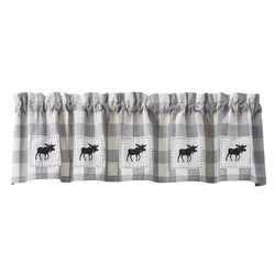 Gingham Lined Moose Valance