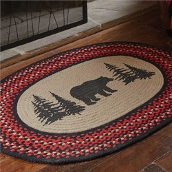 Bear Printed Braided Rug