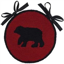 Buffalo Check Bear Hooked Chair Pad - Set of Two