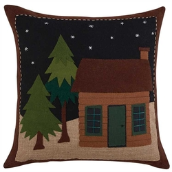 Little Cabin in the Woods Pillow