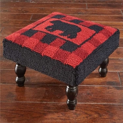 Buffalo Check Foot Stool