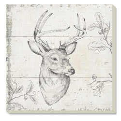 Square Deer Coaster - Set of 4