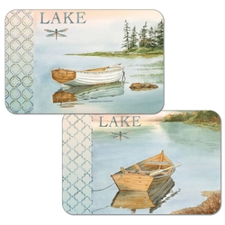 Lake Boat Placemat - Set of 2