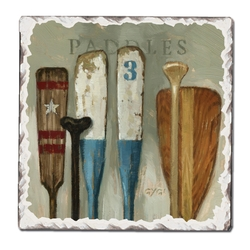 Paddles Tumbled Coasters - Set of 4