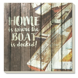 Home is Where the Boat is Docked Coasters-Set of 4