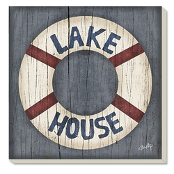 Lake House Preserver Coaster-Set of 4