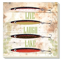 Live Laugh Lake Coasters - Set of 4
