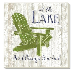 5 O'Clock at the Lake Coaster - Set of 4