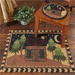 Moonlit Cabin Hooked Chair Pads - Set of 2