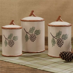 Pinecroft 3 pc. Canister Set