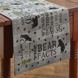 Bear Factology Table Runner - Two Size Options