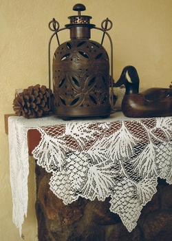 Woodland Lace Mantle Scarf - Ecru