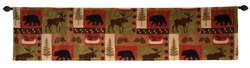 Wildlife Patch Rustic Valance
