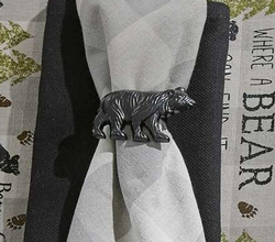 Black Bear Napkin Ring - Set of 2