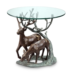Deer Pair End Table