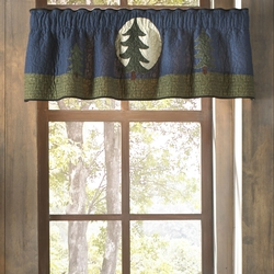 Bear Dance Pine Tree Valance