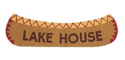 Lake House Canoe Shaped Hooked Rug