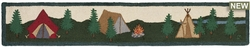 Camping Tents Hooked Wool Rug - 1' x 6