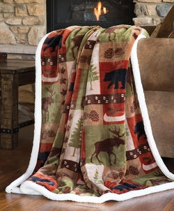 Patchwork Lodge Throw