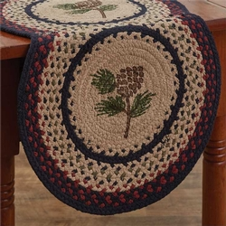 Pinecone Braided Table Runner - Two Options