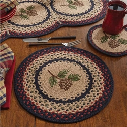 Pinecone Braided Placemat - Set of 2