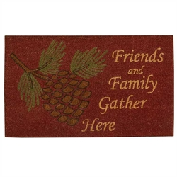Friends & Family Pinecone Door Mat
