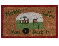 Home Is Where You Park It Door Mat