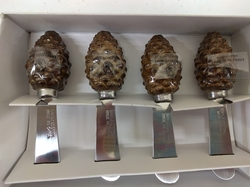 Pinecone Serving Knives - Set of 4