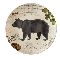 Wildlife Trail Salad/Dessert/Luncheon Plate - Bear