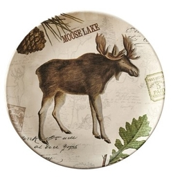 Wildlife Trail Salad/Dessert/Luncheon Plate - Moose