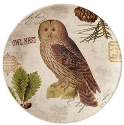 Wildlife Trail Salad/Dessert/Luncheon Plate - Owl