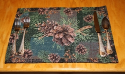 Pinecone Placemats - Set of 4