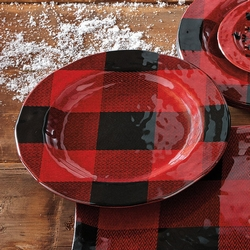 Buffalo Plaid Salad Plate - Set of 4
