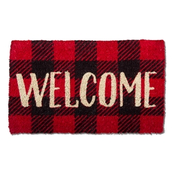 Welcome Buffalo Check Mat