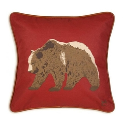 Grizzly Bear Canvas Pillow - 18