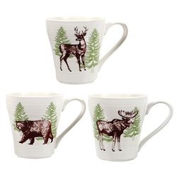 Woodland Art Mug- Bear, Moose, Deer