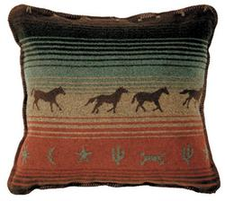 Mustang Canyon Throw Pillow