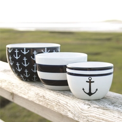 Nautical Nested Bowls - Set of 3