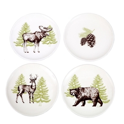 Woddland Dessert Plates - Set of 4