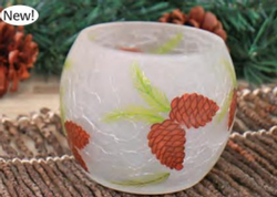 Crackle Frosted Glass Tealight
